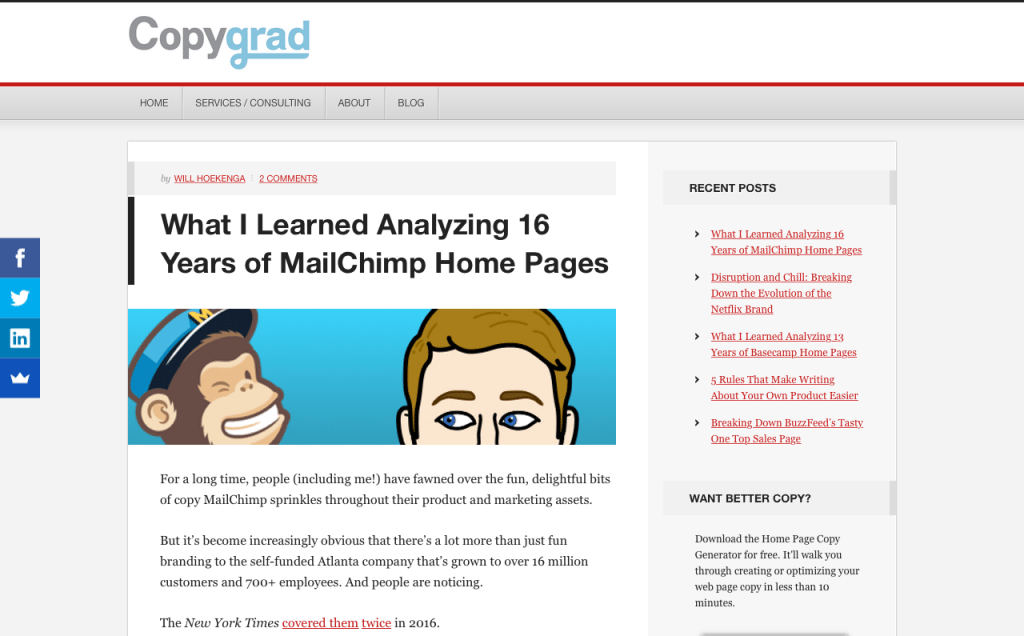 What I Learned Analyzing 16 Years of MailChimp Home Pages